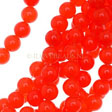 JADE GEMSTONES BEADS - ORANGE RED NEON ROUND BEADS 6MM